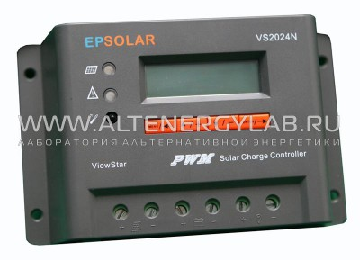 Контроллер заряда EPSolar PWM VS 2024BN 20A 12/24В Контроллер заряда EPSolar PWM VS 2024BN 20A 12/24В