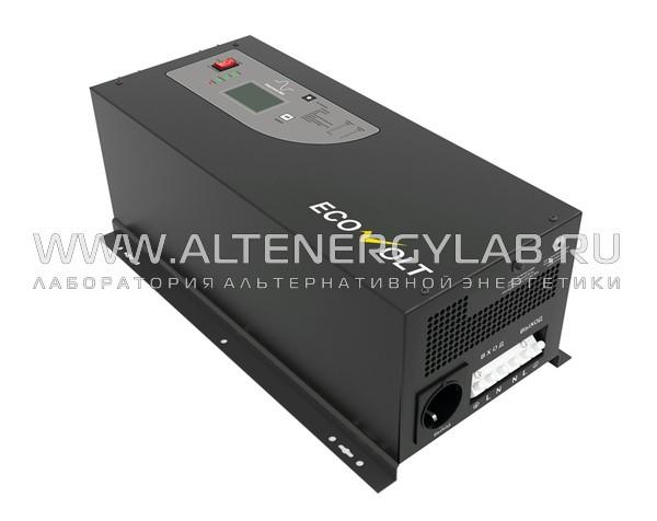 Инвертор EcoVolt PRO 3024C 3000Вт 24В кабель 6AWG